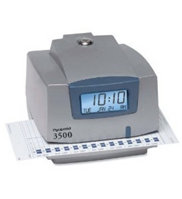 Pyramid M3500 Electronic Document Time Recorder - Card Punch/StampUnlimited Employees