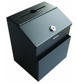 Pyramid Metal Suggestion Box - Black