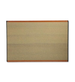 "Quartet B247LC Prestige Colored Cork Bulletin Board, 6"" x 4"", Cherry Finish Frame"
