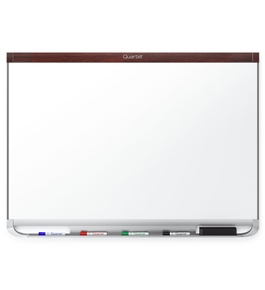 "Quartet P554MP2 Prestige 2 DuraMax Porcelain Magnetic Whiteboard, 4"" x 3"", Mahogany"
