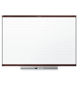 "Quartet TE547MP2 Prestige 2 Total Erase Whiteboard, 6"" x 4"", Mahogany"