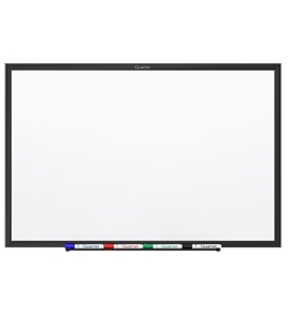Quartet Standard Magnetic Whiteboard, 6 x 4 Feet, Black Aluminum Frame