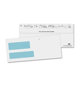 Quality Park #9 Double Window EcoEnvelopes, Mail invoices for your business and have customers send back payment in the same envelope, Box of 100 (24530)