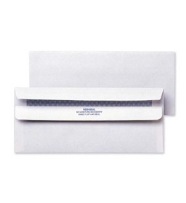 Quality Park Redi-Seal Security Tint Envelopes, #10, White, 500/Box (11218)