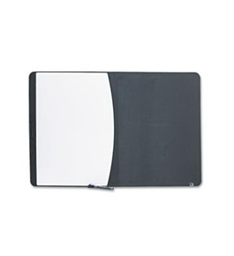 Quartet 06545BK Quartet Tack & Write Combo Dry-Erase/Marker Board, Foam, 35 x 23-1/2, BLK/WE