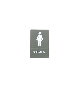 Quartet ADA Approved Women's Restroom Sign, Tactile Graphics, Molded Plastic, 6 x 9 Inches, Gray (01417)