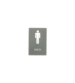Quartet ADA Men Sign, 6 x 9 Inches, Gray (01418)