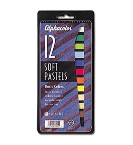 Quartet Alphacolor Soft Square Pastels, Multi-Colored, 12 Pastels per Set (105007)