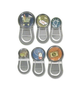 Quartet Bubble Push Pins with Clips, Assorted Designs (79226)