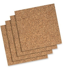 Quartet Cork Tiles, 12-Inch x 12-Inch, Modular, Self-Healing, Self-Stick Mount, 4 Pack (102)