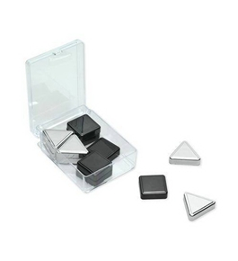 Quartet Metallic Magnets, Silver and Graphite, 12 Magnets per Pack (1250)