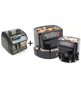 The Coin and Cash Handling Package Deal - Royal Sovereign Electric Bill Counter & Cassida C200 Coin Counter/Sorter/Wrapper