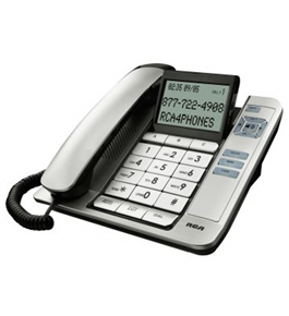 RCA 1113 Corded Speakerphone with Large Buttons, Tilt Screen and Caller ID