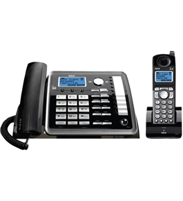 RCA ViSYS 2-line Corded/Cordless Expandable System with Digital Answering System (25255RE2)