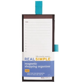 Real Simple Notepad Shopping Organizer, Brown (57037)