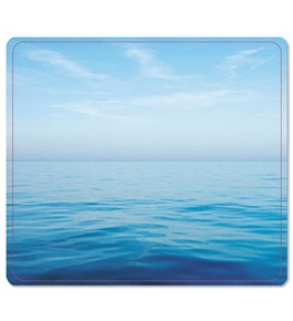 Fellowes Recycled Mouse Pad Nonskid Base 7-1/2 x 9 Blue Ocean