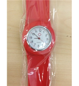 Red Fancy Slap Watch Teen or Adult Sized
