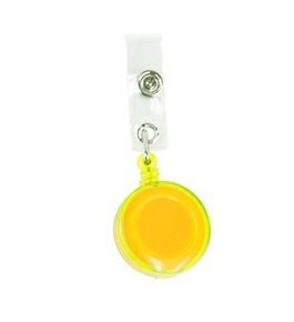 Retractable Reel Belt Clip Id Badge Holder Assorted Translucent Colors (Yellow)