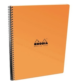 Rhodia Meeting Notebook 9x11.75 Orange