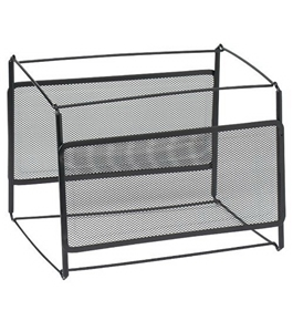 Rolodex File Frame Holder, Mesh, For Letter Size, Black
