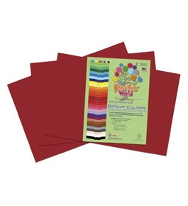 Roselle 12x18 Bright Colors Sulphite Construction Paper, Dark Red/Burgundy (76202)