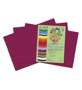 Roselle 12x18 Bright Colors Sulphite Construction Paper, Magenta (74502)
