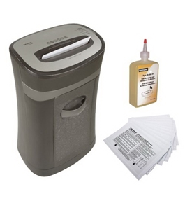 Royal HG2020MX 20-Sheet Cross-Cut Shredder + Shredder Oil 12 oz. Bottle + Shredder Lubricant Sheets 12-Pack