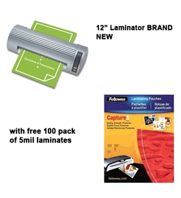 Royal Sovereign NR-1201 12  Business Pouch Laminator w/ free pack of 5mil