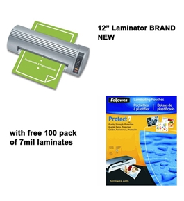 Royal Sovereign NR-1201 12 Business Pouch Laminator w/ free pack of 7mil