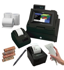 Royal TS4240 LCD Touch Screen Restaurant and Retail Cash Register with Thermal Receipt Printer in Black