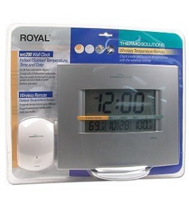 Royal Wc200 Wall Clock Wireless Indoor/outdoor Thermometer