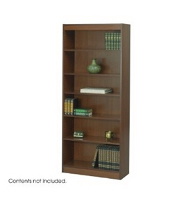 Safco 6-Shelf Reinforced Baby Veneer Bookcase, Cherry [Kitchen]