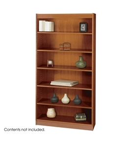 Safco 6-Shelf Reinforced Square-Edge Veneer Bookcase, Cherry [Kitchen]
