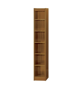 Safco 6-Shelf Veneer Baby Bookcase, 12-Inch W, Medium Oak [Kitchen]