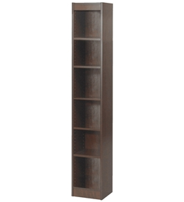Safco 6-Shelf Veneer Baby Bookcase, 24-Inch W, Walnut [Kitchen]