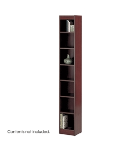 Safco 7-Shelf Reinforced Baby Veneer Bookcase, Mahogany [Kitchen]