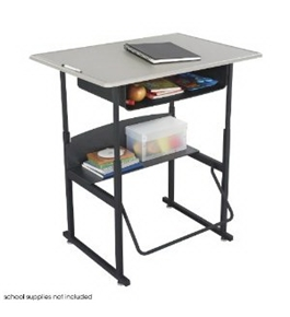 "Safco AlphaBetter 24"" x 36"" Student Desk in Beige with Book Box"