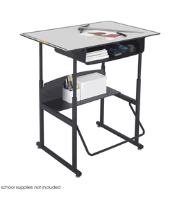 "Safco AlphaBetter 24"" x 36"" Student Desk in Gray with Book Box"