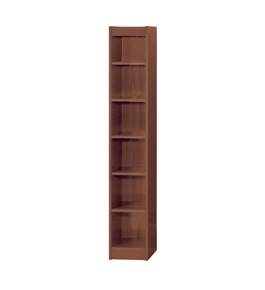 "Safco WorkSpace 6 Shelf 12""W Wood Baby Bookcase in Cherry"