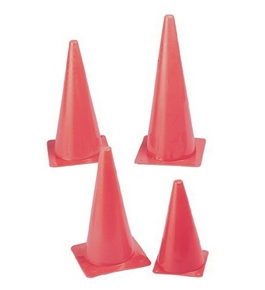 "Safety Cone; 15"" Height; Fluorescent Orange; no. CHSTC15"