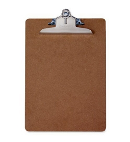 Saunders Recycled Hardboard Clipboard with High Capacity Clip, Letter Size, 8.5 inch x 12 inch, 1 Clip