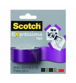 "Scotch Expressions Tape Removable 3/4""X300""-Purple"