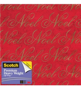 Scotch Gift Wrap, Crackle Verbiage Pattern, 25-Square Feet, 30-Inch x 10-Feet (AM-WPCV-12)