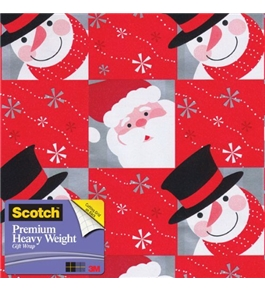 Scotch Gift Wrap, Snowflaked Pals Pattern, 25-Square Feet, 30-Inch x 10-Feet (AM-WPSP-12)