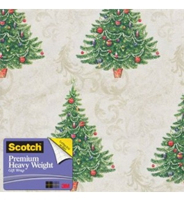 Scotch Gift Wrap, Tree on Patterns Pattern, 25-Square Feet, 30-Inch x 10-Feet (AM-WPTOP-12)