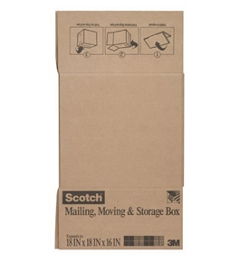 Scotch Mailing, Moving, and Storage Box, 18 x 18 x 16 Inch, 25/Pack (8027)