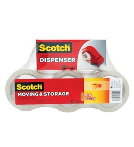 Scotch Mailing and Storage Tape 3650-6BD, 1.88 Inches x 54.6 Yards, 6-Pack