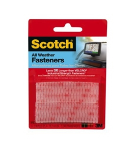 Scotch Reclosable Fasteners, Clear, 1 x 3-Inches, 2 Sets (RF9730)