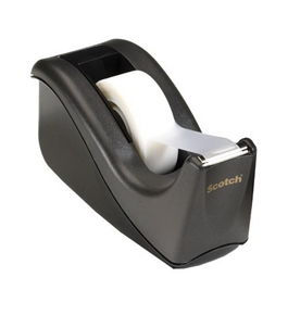 Scotch Value Desktop Tape Dispenser, 1 Inch Core, Two Tone Black (C60-BK)