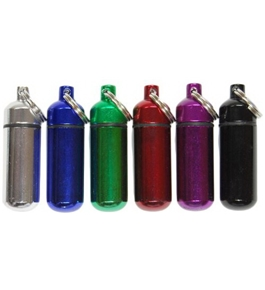 SE - Small Pill/ID Holder Keychain (Assorted Colors)